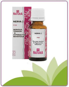Nerva 2 Indications This is a homoeopathic medicine which assists in supporting the function of the nervous system to assist in the treatment of:  tension headache  stress and nervous tension  nerve-related muscular cramps and spasms  Assists in the treatment of nerve-related restlessness, excitability and poor concentration