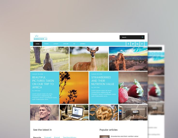 Check out our latest stunning Joomla Template! Horizon II is a clean, modern and professionally designed responsive #Joomla template suitable for magazines, blogs and news sites. Just another awesome Joomla Theme from Minitek built with the T3 Framework and Bootstrap.