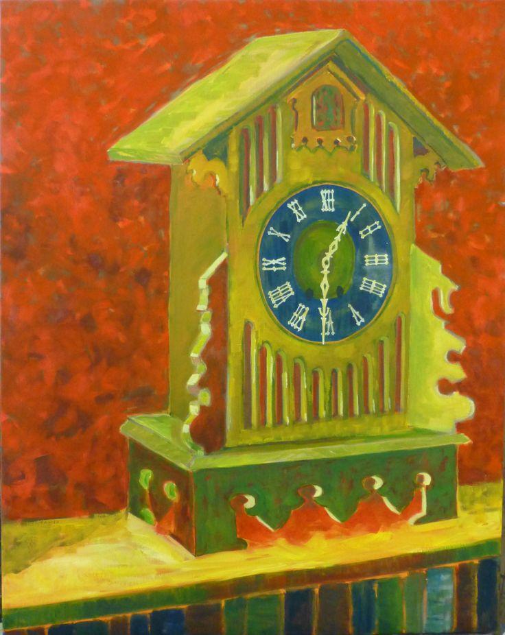 """Joanna Mansueto """"cuckoo"""" oil on canvas 2013"""