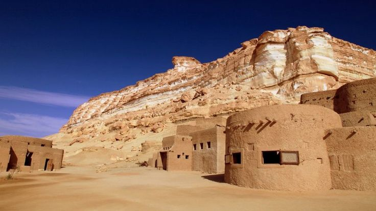 20 of the world's most remote homes, structures, and towns- Adrere Amellal – Siwa Oasis, Egypt