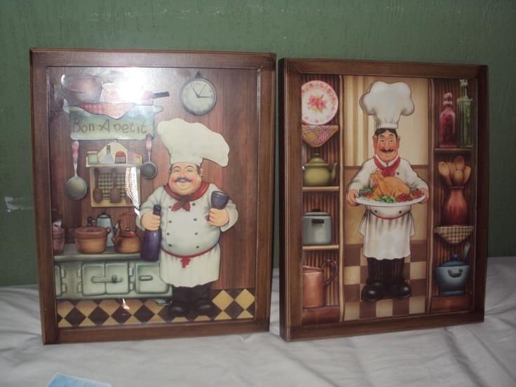 Quadros cozinheiros - em arte francesa