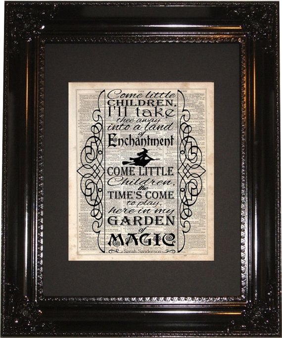 Hocus Pocus Song Dictionary Art Print by MySilhouetteShoppe