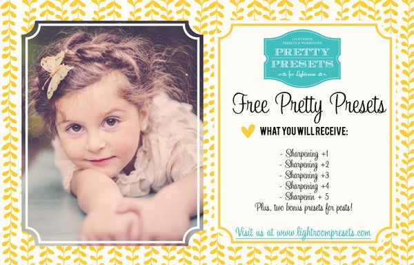 7 Free Presets for Sharpening in Lightroom 4 | Pretty Presets for Lightroom