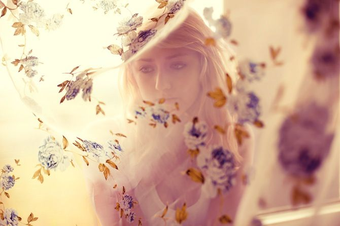 Dreamer: Elizaveta Porodin, Floral Prints, Beautiful Inspiration, Sheer Curtains, Dreamy Photography, Mystery Photography, Fashion Photography, Porodina Photography, Photoshoot Ideas