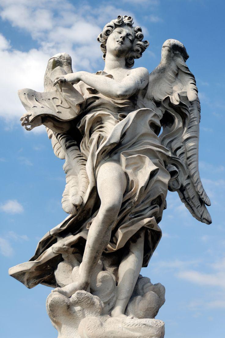 Ángel Con La Inscripci�n, Puente Sant'angelo, Roma  Copia En El Puente