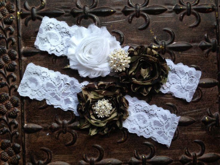 Camo Wedding Garter Set Camo Wedding Garter by TheRaggedDiamond, $22.00