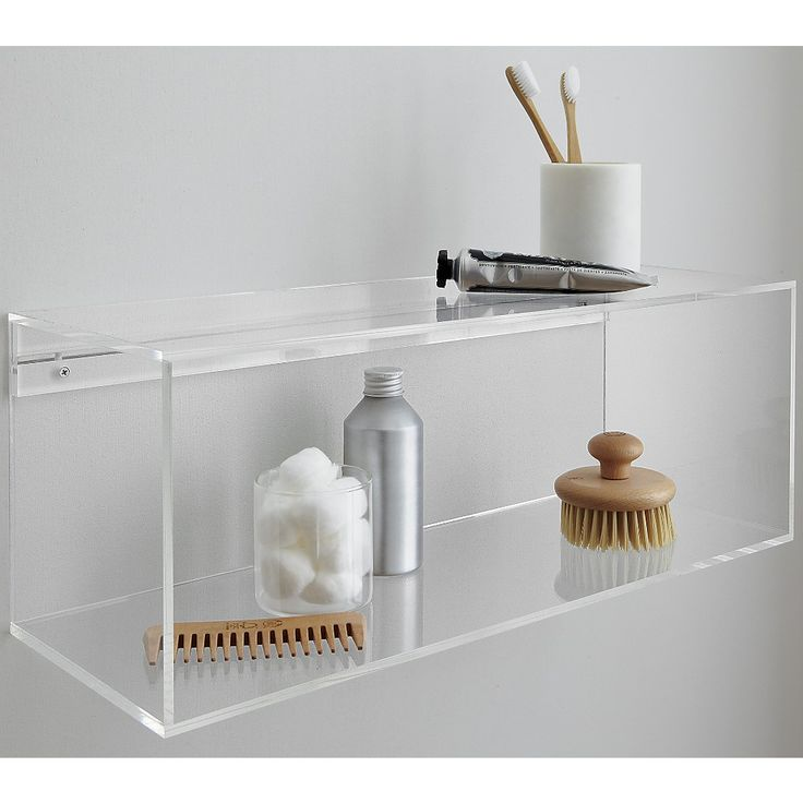 acrylic storage shelf