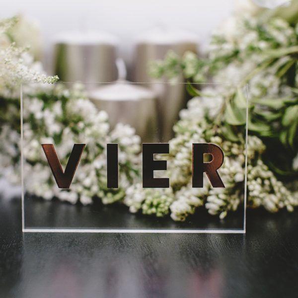 Tischnummer Acryl Block Tischnummern Tisch Und Hochzeitsdekoration