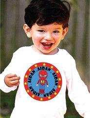 Superhero Birthday T-Shirt for Boys Personalized Spiderman Style Shirt   FUNKY MONKEY THREADS #FMT #funkymonkeythreads #superherobirthday #spierman