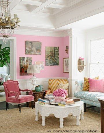 7 best Różowe salony / Pink living rooms images on Pinterest | Pink ...