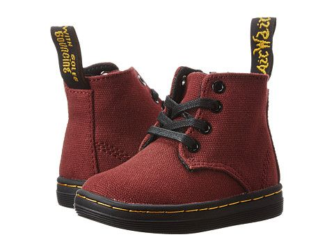 Dr. Martens Kid's Collection Laney B Lace Boot (Toddler) Black Vintage Garden T Canvas - Zappos.com Free Shipping BOTH Ways