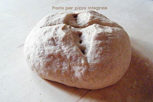 Pasta per pizza integrale, ricetta base