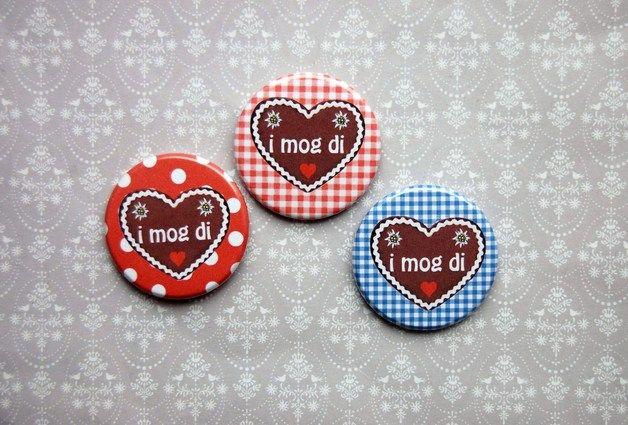 Buttons - Button 26mm oder 43mm ~ Lebkuchenherz I MOG DI - ein Designerstück von clovercoeur bei DaWanda