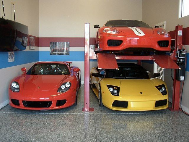 A Lift Can Multiply Your Garage Space If You Have Too Many Toys Garages Amp Man Caves Dream