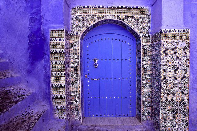 tiled doorway in Morocco