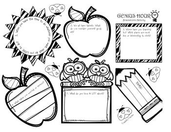 students love genius hour this 2 page worksheet will help students brainstorm ideas to research. Black Bedroom Furniture Sets. Home Design Ideas