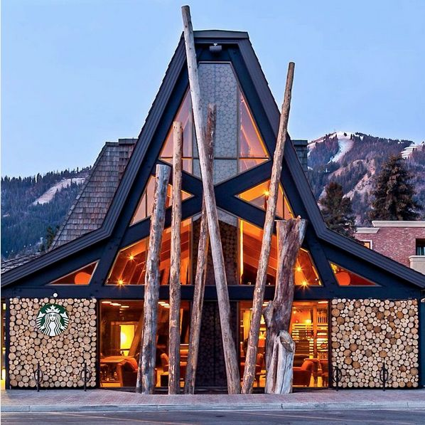 The Most Over-The-Top Starbucks; Ketchum, Idaho