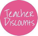 For my teacher friends :) A whole bunch of stores with teacher discounts- some I didn't know about