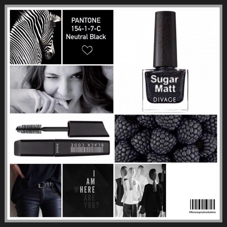 """Pantone 154-1-7-C Neutral Black: i pigmenti che assorbano la luce piuttosto che rifletterla danno luogo al """"nero"""". Un colore che non può mancare nell'armadio e nel beauty di ogni donna. Elegante, magnetico e senza tempo. Il nero è la scelta ideale in qualsiasi momento. #coloroftheweek"""