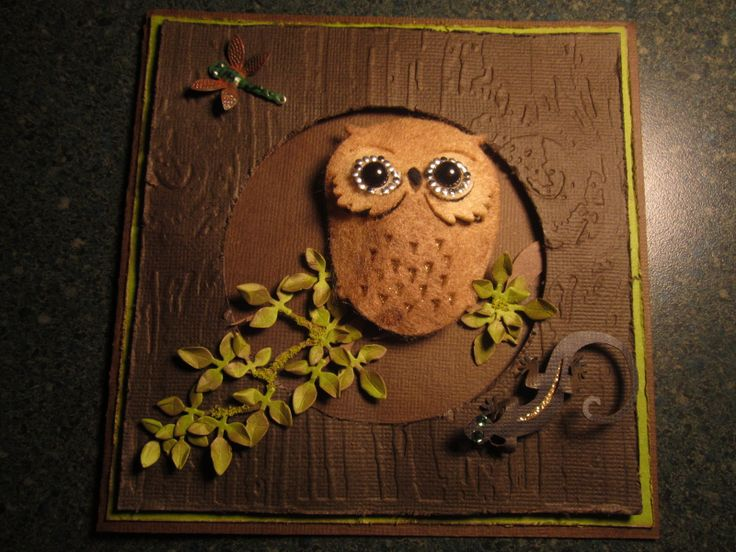Another Owl card made using products from Imagineif.