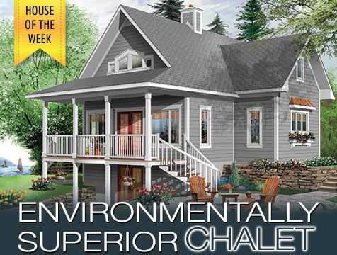 House Of The Week W2939 ES, Environmentally Superior Chalet ! Beautiful  House Plan #