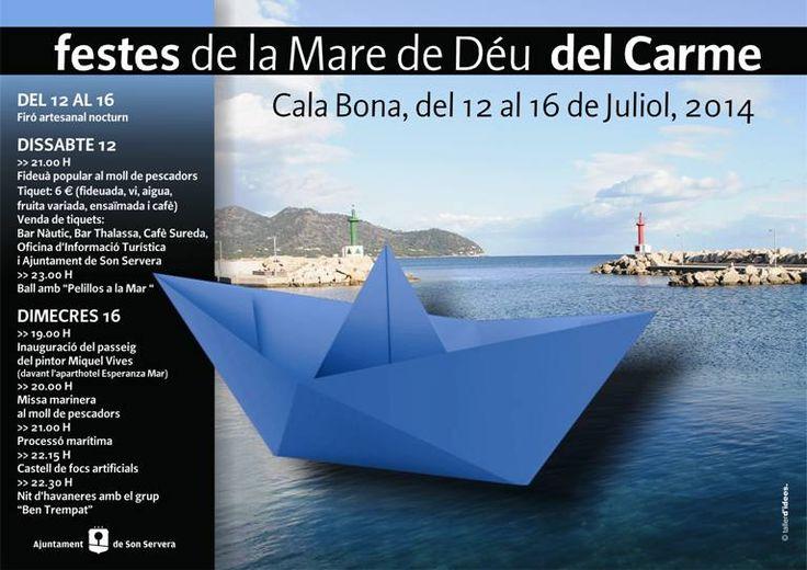 Festes patronals de Cala Bona del 12 al 16 de juliol 2014