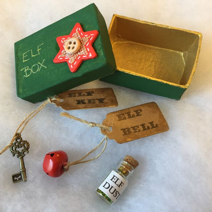 Elf size Christmas Eve box - ideal for any shelf elf