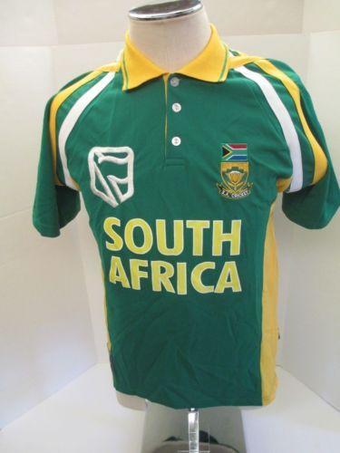 dad5ca1abd5 South Africa Cricket Team Jersey W/Hip Tag New Vintage Men'S Size 13/14  Medium