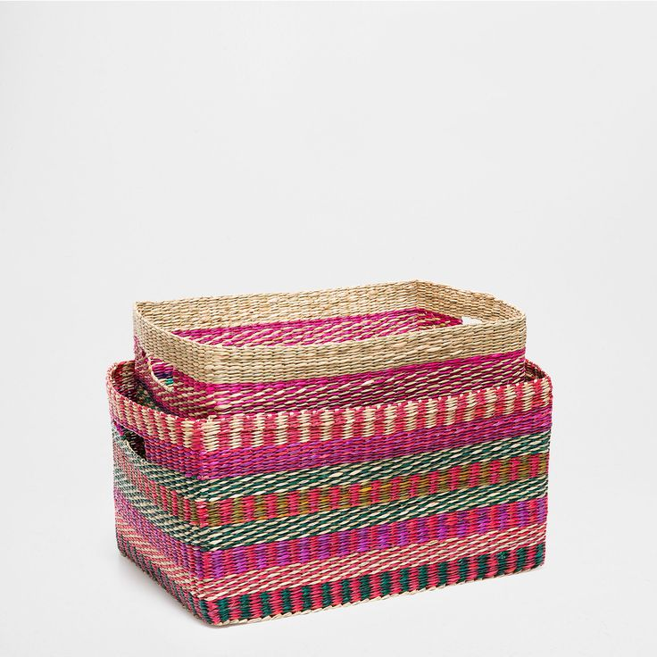 MULTI-COLORED BAMBOO BASKET -  | Zara Home United States of America