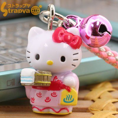 Sanrio Hello Kitty Onsen Series Netsuke Strap (Yukata) Official Sanrio Licensed Product. Beware of imitations. Rare Hello Kitty from Japan. Shipped directly from Japan. Please check out Strapya World. We have other various designs of Sanrio Hello Kitty as well..  #ASUNAROSYACO.,LTD. #Wireless