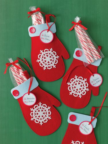 Image detail for -Martha Stewart Crafts - Christmas - Felt Treat Bags - Mittens