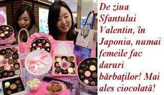 În Japonia, de ziua Sfântului Valentin, femeile obişnuiesc să-şi răsfeţe iubiţii într-un fel cu totu...