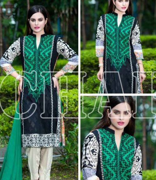 Charizma Range Embroiderd Lawn Suits Collection CR_609