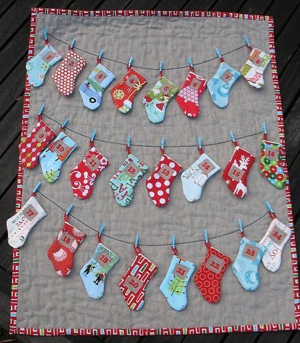 Stocking Advent Calendar by Trillium Design | Sewing Pattern - Looking for a sewing pattern for your next project? Look no further than Stocking Advent Calendar from Trillium Design! - via @Craftsy