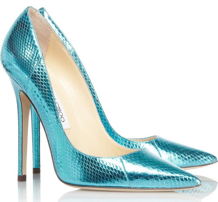 metallic watersnake pumps It's been a long time since I have LOVED a Choo  shoe. These are delightful