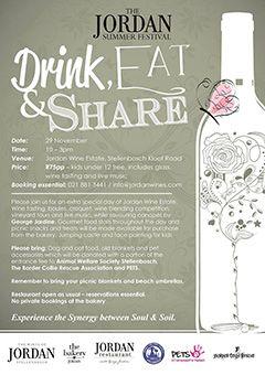 Jordan Summer Festival, Stellenbosch – Drink, Eat, Share (29.11.2014) #wine #events #stellenbosch #winelands #southafrica