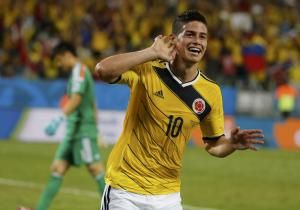 James Rodriguez signs with Real Madrid after starringfor Columbia at 2014 World Cup