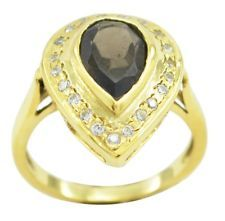 Smoky Quartz Gold Plated Ring inviting Brown gemstones AU gift
