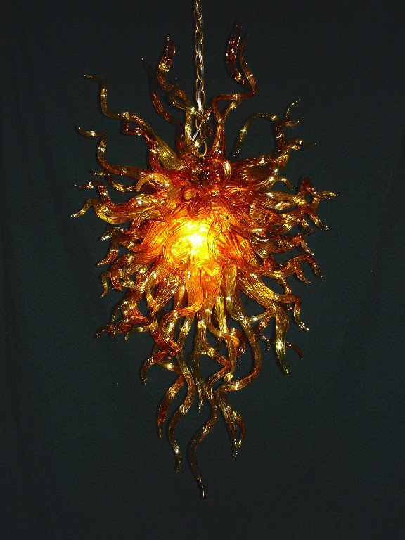 hand blown glass chandelier seth parks glass - Blown Glass Chandelier