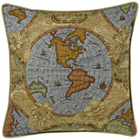 Antique World Map Pillow #lampsplus  #mystyle