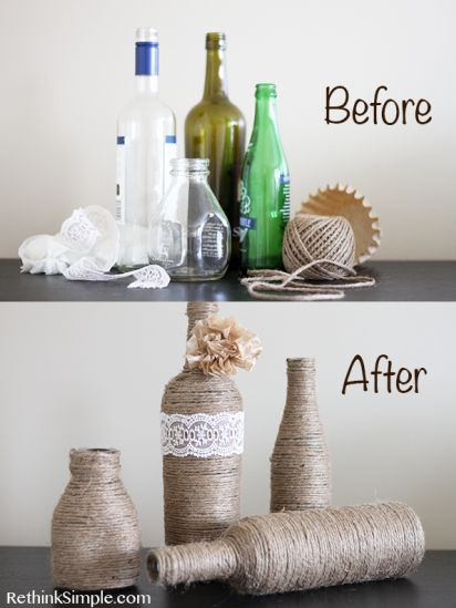 Transform Your Glass Bottles into Pretty Vases!