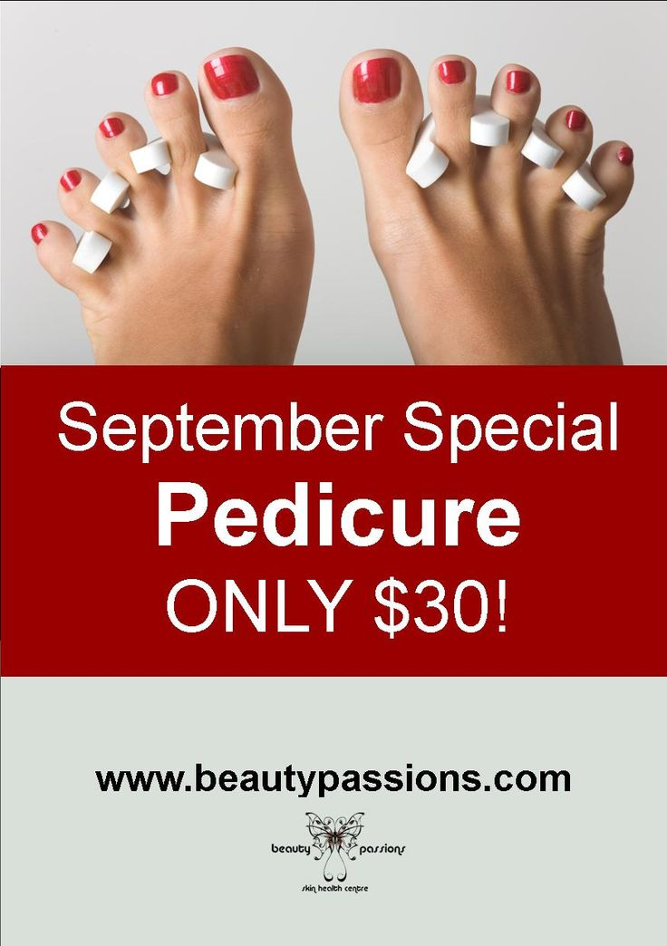 September Special Pedicure Only $30