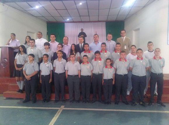 Gobernador acompaña posesión de Consejo Escolar  en el Colegio Salesiano