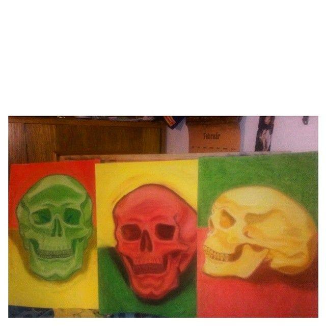 #green #yellow #red #reggae #rasta #skull #skulls #jamaicanskulls