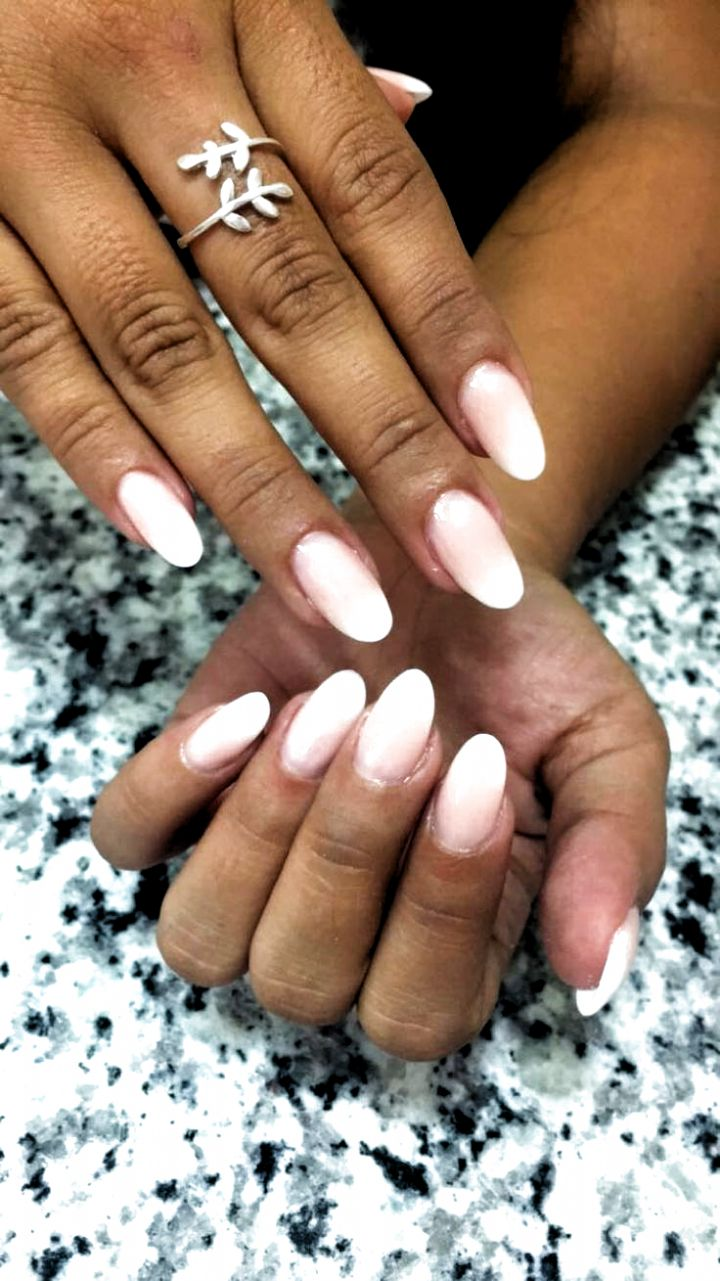 Baby boomer almond nails #nails acrylic coffin in 2020 ...