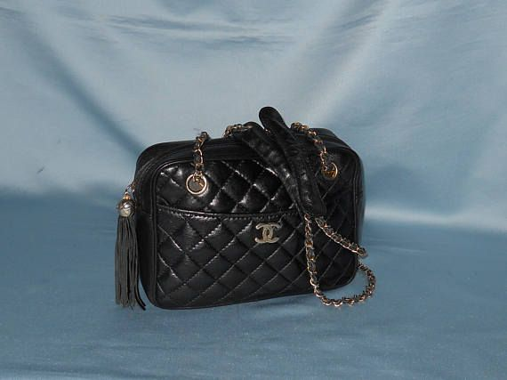 Authentic vintage Chanel bag  genuine leather