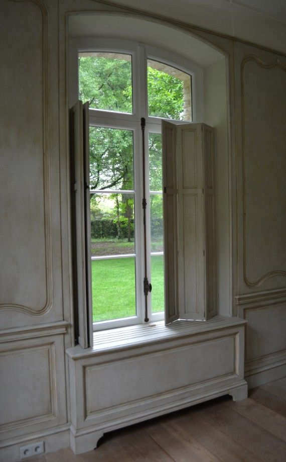 18th Century Styled French Paneling And Wooden Shutters Handmade And Custommade In The Workshop