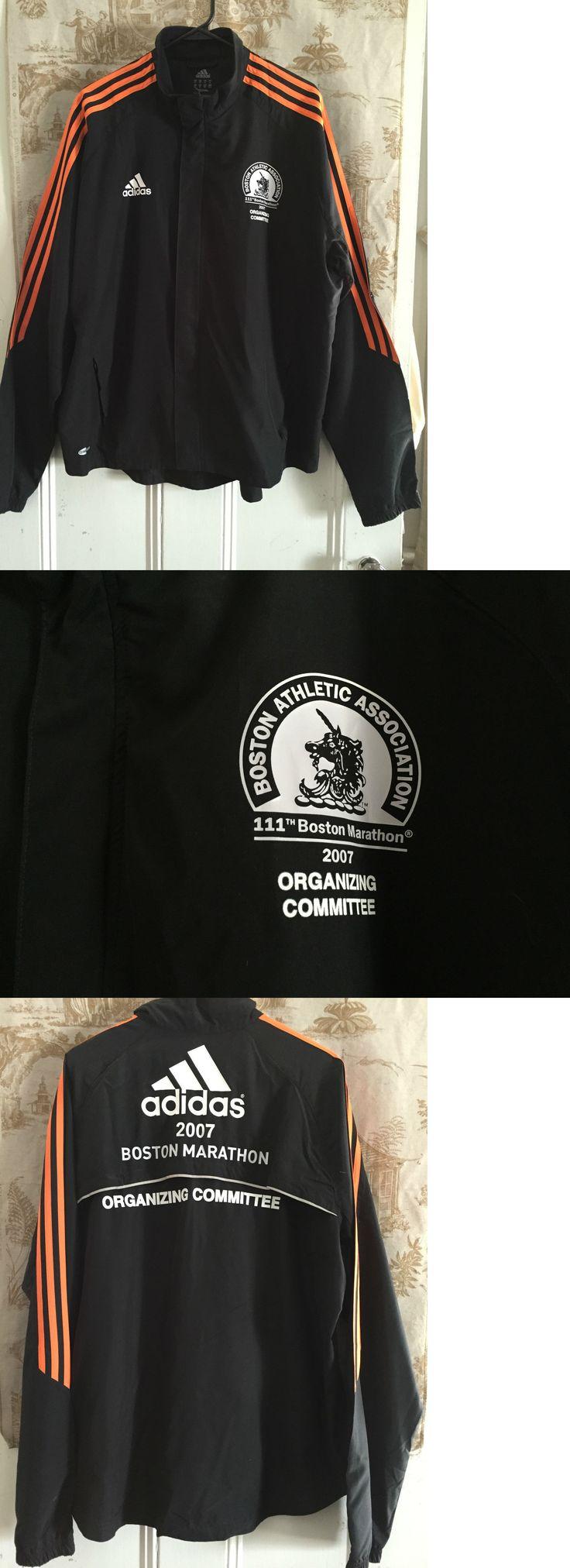 Other Mens Fitness Clothing 40892: 2007 Adidas Boston Marathon Organizing Committee Jacket Xl -> BUY IT NOW ONLY: $33 on eBay!