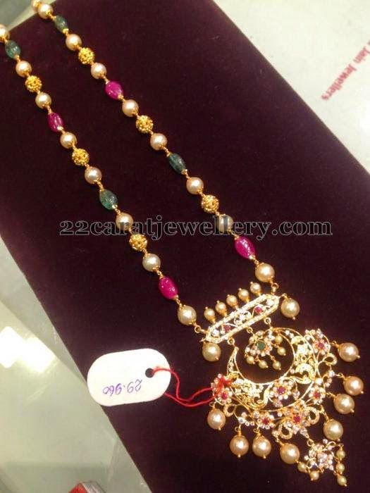 Jewellery Designs: 29 Gms Beads Set with Locket