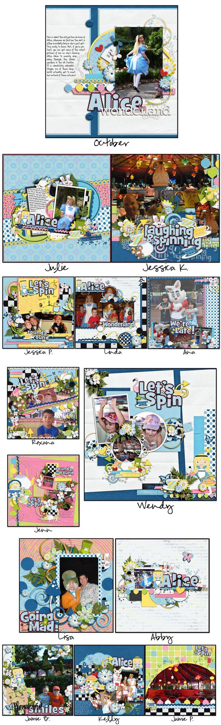 Disney scrapbook ideas - Disney Scrapbook Digital Scrapbook Scrapbooking Ideas Scrapbook Layouts Magic Kingdom Disney Characters Disney Magic Alice In Wonderland Disneyland
